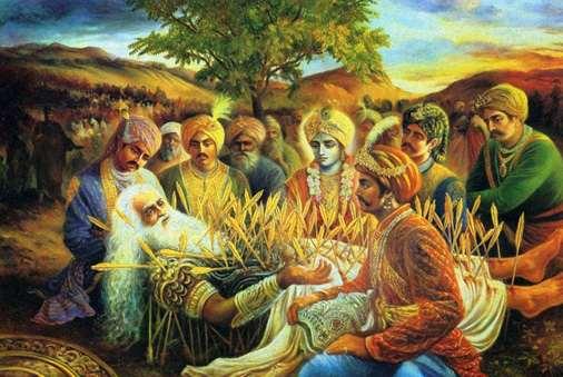 31 января - Бхишмаштами, день явления Бхишмадева, деда Пандавов