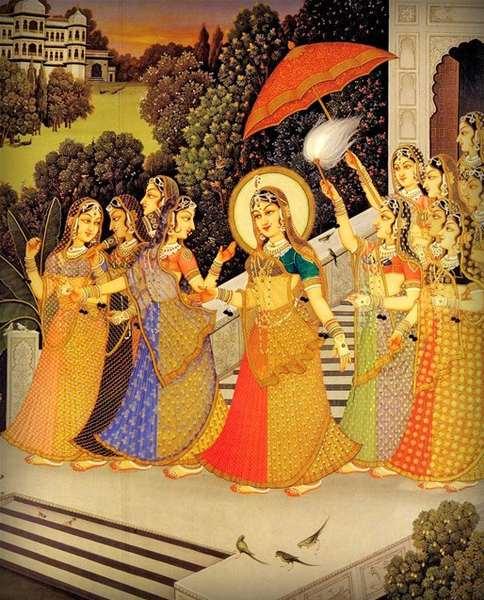 """Результат пошуку зображень за запитом """"Махараджа Вришабхану и царица Киртида."""""""